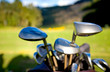 golf clubs close up