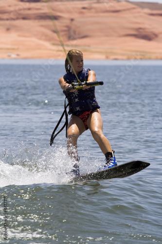 Girl Wakeboarding at Lake Powell - 4617118