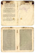 vintage old russian pasport year of 1914