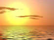 Leinwanddruck Bild - Orange sunset