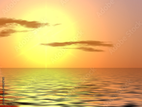 Leinwanddruck Bild Orange sunset