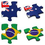 Australia & Brazil puzzle poster