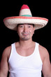 Funny Japanese Man in Mexican Sombrero