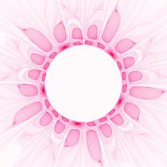 soft pink floral border