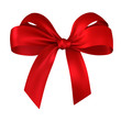 canvas print picture - red gift, ribbon, bow