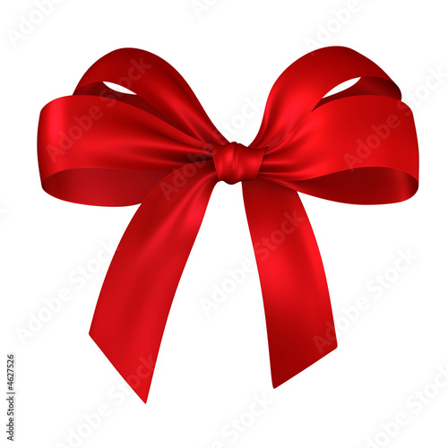 canvas print picture red gift, ribbon, bow