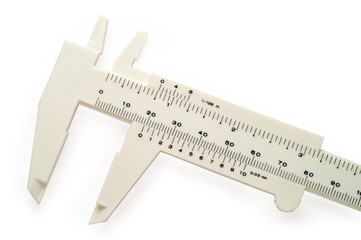 White caliper wth clipping path