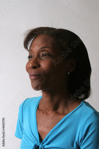 Mature African American Black woman