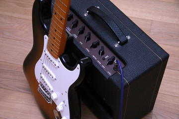guitar and sound amp