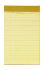 Small Yellow Lined Notepad