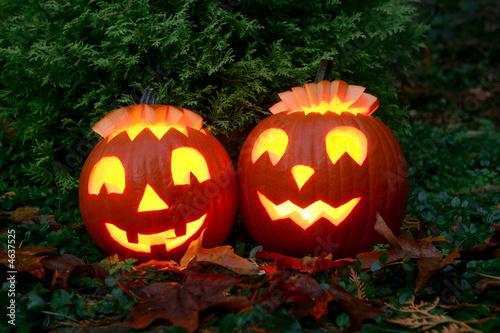 Carved Jack-o-Lantern Halloween pumpkins