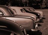 Antique Cars in Sepia Color-