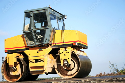 Yellow road-roller
