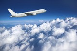 Large airliner along clouds - Fine Art prints