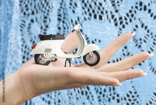 the hand and vespa