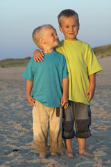 Two Brothers On A Beach