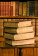Old books in classic library 4