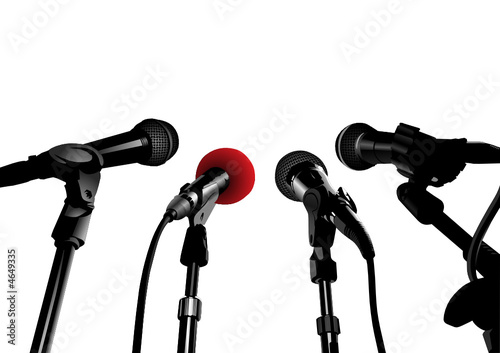 Press Conference (editable vector or XXL jpeg image)