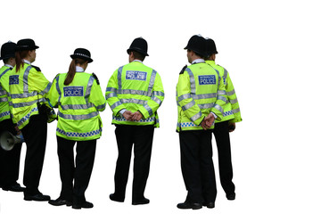 Group of UK police officers