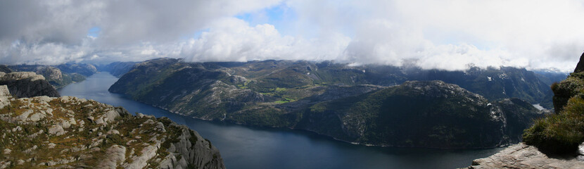 View on the Lysefjord, Norway