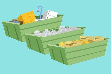 Bacs à déchets