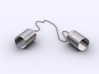 Two tin can string phone