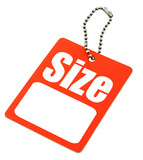 blank Size Tag poster