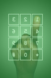 Touch screen keypad and hand poster