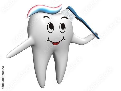 Selbstbräunender Zahn