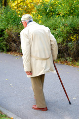 Senior walking