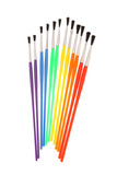 Paintbrush Rainbow poster