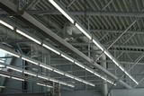 factory ceiling lights poster