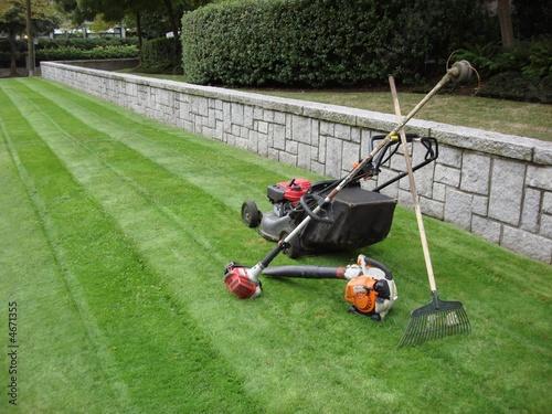 Leinwandbild Motiv landscaping machinery