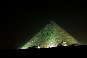 PYRAMID OF CHEOPS AT NIGHT - GIZA EGYPT