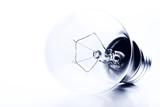 light bulb high-key monochrome poster