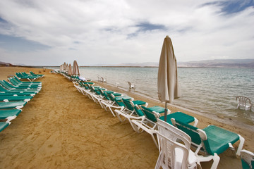 In the beginning of spring on the Dead Sea
