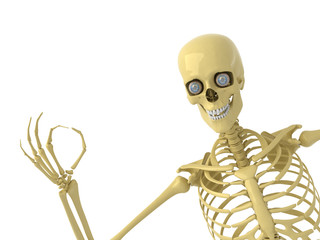 Skeleton with OK