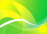 mellow green background poster