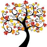 Fototapety arbre à l'automne - illustration
