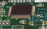microchip on green board poster