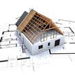 maison charpente et plan D2