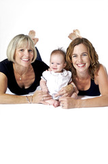 Three Beautiful Women from Three Generations
