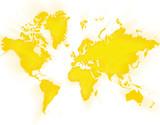 World Map Sunshine poster