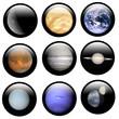 Leinwandbild Motiv System Solar Buttons