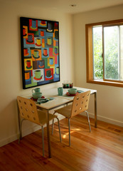 Fancy breakfast nook in modern house