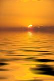 brilliant golden sunset poster