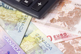 Canadian and Euro currency pair commonly used in forex trading poster