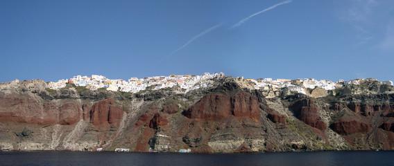 Oia sur les falaises de Santorin