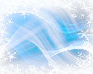 Blue winter background