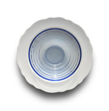 white and glass dishes poster
